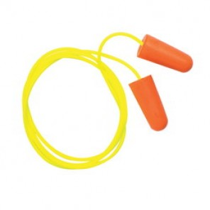 Pyramex® DP1001 Corded Disposable Ear Plug, Contoured, 31 dB, Orange Plug