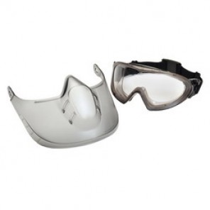Pyramex® Capstone® Shield Protective Goggles, Clear Frame, Anti-Fog, Scratch-Resistant Clear Lens