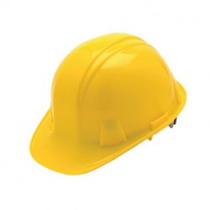 Pyramex® HP14030 Front Brim Hard Hat, 6-1/2 - 8 in, Yellow, 4-Point Nylon Snap Lock Suspension, Class C, G, E