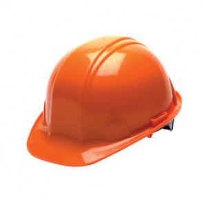 Pyramex® HP14040 Front Brim Hard Hat, 6-1/2 - 8 in, Orange, 4-Point Nylon Snap Lock Suspension, Class C, G, E