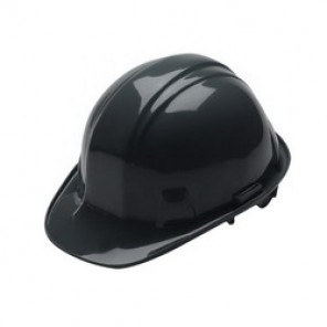 Pyramex® HP14111 Cap Style Hard Hat, 6-1/2 - 8 in, Black, 4-Point Nylon Ratchet Suspension, High Density Polyethylene