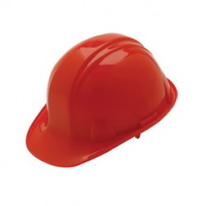 Pyramex® HP16120 Cap Style Hard Hat, 6-1/2 - 8 in, Red, 6-Point Ratchet Suspension, High Density Polyethylene