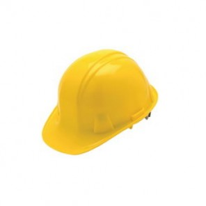 Pyramex® HP16130 Cap Style Hard Hat, 6-1/2 - 8 in, Yellow, 6-Point Ratchet Suspension, High Density Polyethylene