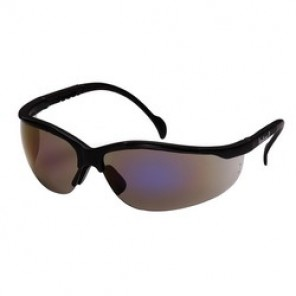 Pyramex® SB1875S Dual Lens Protective Glasses, Universal, Black Frame, Scratch-Resistant Blue Mirror Lens