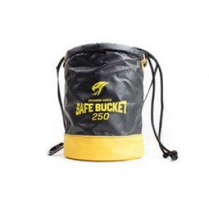 Python® Tools@Height™ BKT-100DRAWC Safe Bucket, 15 in H x 12-1/2 in W, Canvas, Black/Yellow