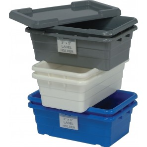 "QUANTUM CROSS STACK TUBS, Blue, Cross Stack Tubs, Size L x W x H: 23-3/4 x 17-1/4 x 12"", Ctn. Qty.: 6"
