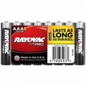 Rayovac® Ultra Pro AL-AAA Shrink Wrapped Battery, Alkaline, 1.5 VDC, 1200 mAh, AAA, 8/PK