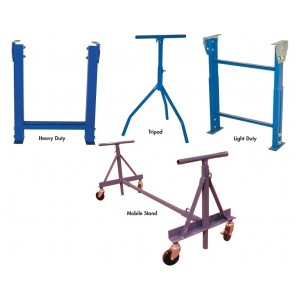"CONVEYOR SUPPORTS, Adj. Height: 24 - 40"", Support Type: Mobile Stand (use w/skate wheel & light duty conveyors only), Width: 24"""