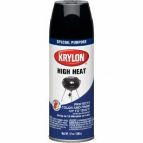 Krylon® 1618 High Heat Paint, 16 oz, Black, 6 Cans per Case
