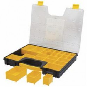 Stanley® 014725R Professional Tool Organizer, 2-1/10 in H x 13-7/50 in W x 16.7 in D, 25 Pockets