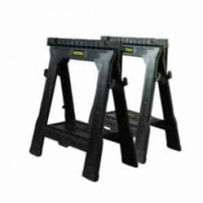 Stanley® 060864R Folding Sawhorse, 31-1/2 in H x 27-1/2 in W, 1000 lb Load