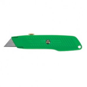 Stanley® 10-179 Utility Knife, 2-7/16 in L, Contoured With Diagonal Ribs Handle, High Carbon Steel Blade