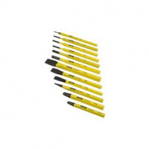 Stanley® 16-299 Punch and Chisel Set, 12 Pieces, 3/8 - 5/8 in Chisel, 1/16 - 5/16 in Punch, Hardened Steel