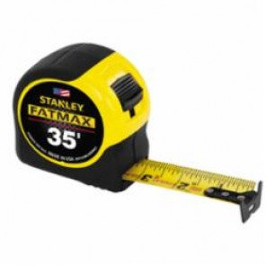 Stanley® FatMax® 33-735 Tape Rule, 1-1/4 in W x 35 ft L Blade, Mylar® Polyester Film Coated, Imperial, 1/16ths