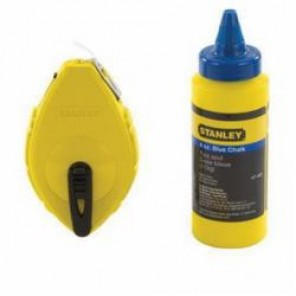 Stanley® 47-442 Chalk Line Reel, 100 ft Line Length Polymer Line, 4 oz Chalk, Sliding Side Door