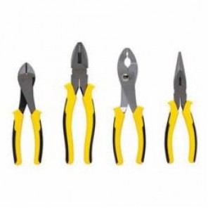 Stanley® 84-058 Plier Set, 4 Pieces, Forged Alloy Steel, Black Handle