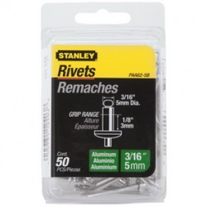Stanley® PAA62-5B Blind Rivet, 1-1/2 in L, 3/16 in Hole, Aluminum
