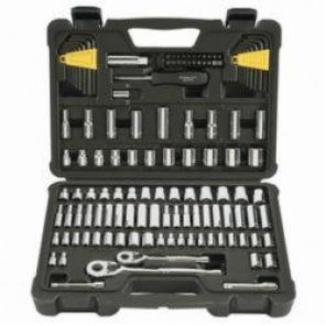 Stanley® STMT71652 SAE and Metric Mechanic Tool Set, 123 Pieces, High Alloy Steel