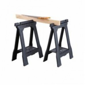 Stanley® STST60952 Junior Folding Sawhorse, 32 in H x 5 in W, 800 lb/Pair Load, Plastic