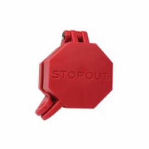 STOPOUT® KDD477 Universal Glad Hand Lockout, Octagon Shape Conveys Stop, For Use With Fits Standard Valve, Plastic, Red