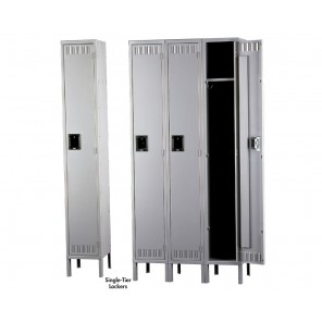 """TENNSCO DURABLE STEEL LOCKERS - SINGLE TIER, Outside Dim. of Opening W x D x H: 15 x 18 x 72"""", Overall Unit W x D x H: 15 x 18 x 78"""", Sand, No. of Openings: 1, 1-Wide Assembled Unit"""