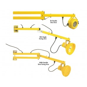 HEAVY DUTY LED LOADING DOCK LIGHTS & ARMS, Double-Strut Swing-Arm, Arm Length: 40""