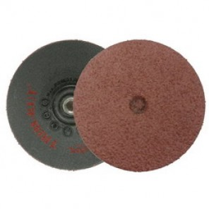 Trim-Kut® 59300 Coated Abrasive Disc, 3 in Dia, 5/16-18, 36 Grit, Very Coarse Grade, Aluminum Oxide Abrasive