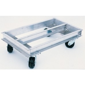 "ALUMINUM CHANNEL DOLLY, Size W x L: 24 x 42"", Deck Height: 10-5/8"", Capacity (lbs.): 2000"
