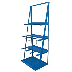 "VERTICAL BAR RACKS, Cap. (lbs.): 3000, No. of Bays: 3, Distance Between Bays: 21"", Size W x D x H: 39-1/4 x 24 x 84-1/2"""