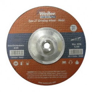 Vortec Pro® 56393 Type 27 Thin Cut-Off Wheel, 4-1/2 in Dia x 0.045 in THK, 7/8 in, 60 Grit, Aluminum Oxide Abrasive