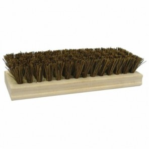 Weiler® 44025 Coarse Sweep Square End Scrub Brush, 8 in L Block, 8 in OAL, 1-1/8 in L Palmyra Trim