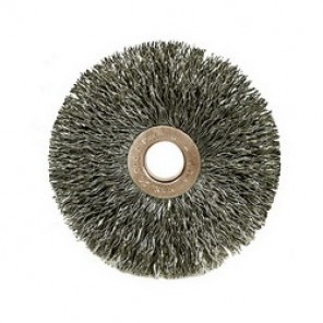 Weiler® 15533 Wire Wheel Brush, 3 in Dia x 5/8 in W, 1/2 in, 0.006 in Crimped Wire