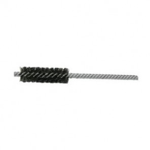 Weiler® 21121 Double Stem Double Spiral Power Tube Brush, 3/4 in Dia x 2-1/2 in L, 5-1/2 in OAL, 0.0104 in