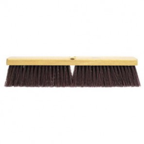 Weiler® 42025 Threaded Tip Push Broom, 18 in OAL, 3-1/4 in Trim, Maroon Polypropylene Bristle