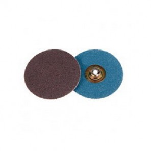 Weiler® 60135 Plastic Button Style Coated Abrasive Disc, 3 in Dia, 80 Grit, Medium Grade, Aluminum Oxide Abrasive