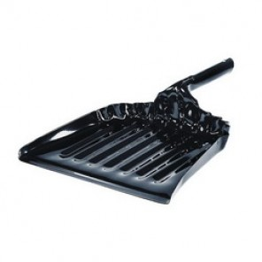 Weiler® 71078 Heavy Duty Dust Pan, 13-1/2 in x 12 in, 20 ga Stainless Steel, Black Enamel