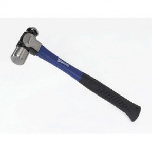 Williams® 20543 Ball Pein Hammer, 11-3/4 in OAL, 12 oz Drop Forged Steel Head, Fiberglass Handle