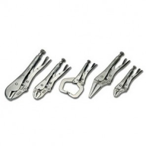 Williams® 23076 Plier Set, Locking, 5 Pieces, Serrated Jaw Surface