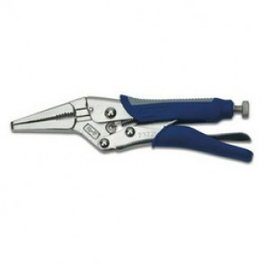 Williams® 23220 1-Handed Lever Locking Plier, Screw Locking, Long Nose, Serrated Jaw Surface, 6 in OAL