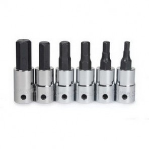 Williams® Tools@Height™ 30904-TH Socket Driver Bit Set, Metric, 1/4 in Drive, 3 mm Torx, 6 Pieces, Polished Chrome