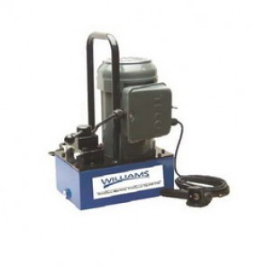 Williams® 5E15H3GR Electric Hydraulic Pump With Pendant Switch, 2 Stages, 1-1/2 hp, 470 cu-in/min 1st Stage, 61 cu-in/min 2nd Stage, 700 psi (1st Stage)/10000 psi (2nd Stage)