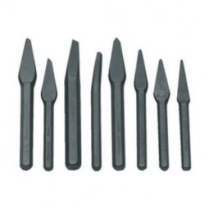 Williams® CS-8 Heavy Duty Chisel Set, Cape/Diamond Point/Round Nose, 8 3/16 to 3/8 in Chisel, 8 Pieces