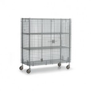 Williams® WBSC2460S Bulk Storage Cage, 68 in H x 62 in W x 28-1/2 in D