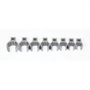 Williams® WSBCF-8 Crowfoot Wrench Set, Imperial, 8 Pieces, 5/8 to 1-1/16 in, High Polished Chrome