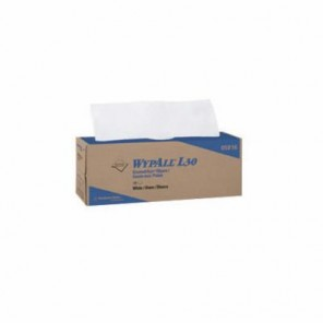 WypAll; 05843 Disposable Wiper, 11 in L x 10.4 in W, Cellulose, White