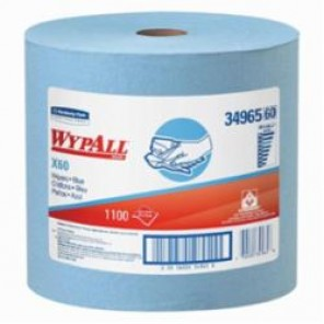 WypAll; 34965 Light Weight General Purpose Wiper, 12-1/2 in W, 1100 Sheets, Hydroknit®, Blue